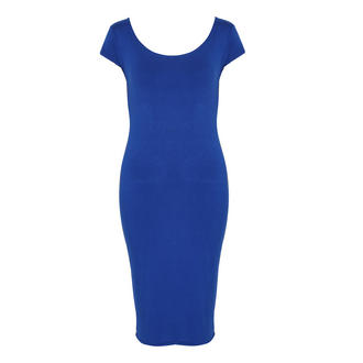 View Item Blue Jersey Midi Dress